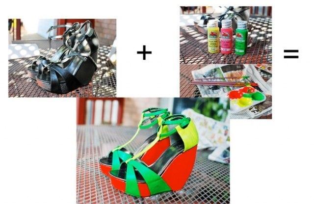 Как покрасить подошву в домашних условиях