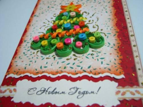 Квиллинг схема елка Квиллинг Новый Год Новогодние открытки в технике квиллинг Квиллинг идеи.  Дата: 14.12.2012...