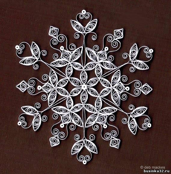 Снежинки квиллинг со схемами