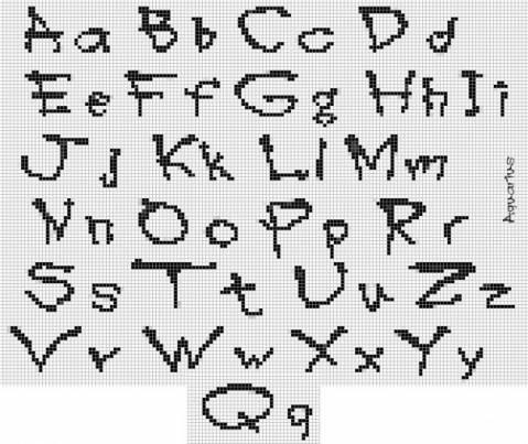 буквы из бисера.