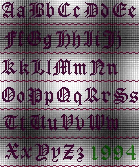схемы букв для фенечек