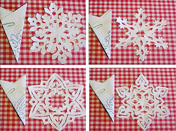 Снежинка из бумаги с детьми